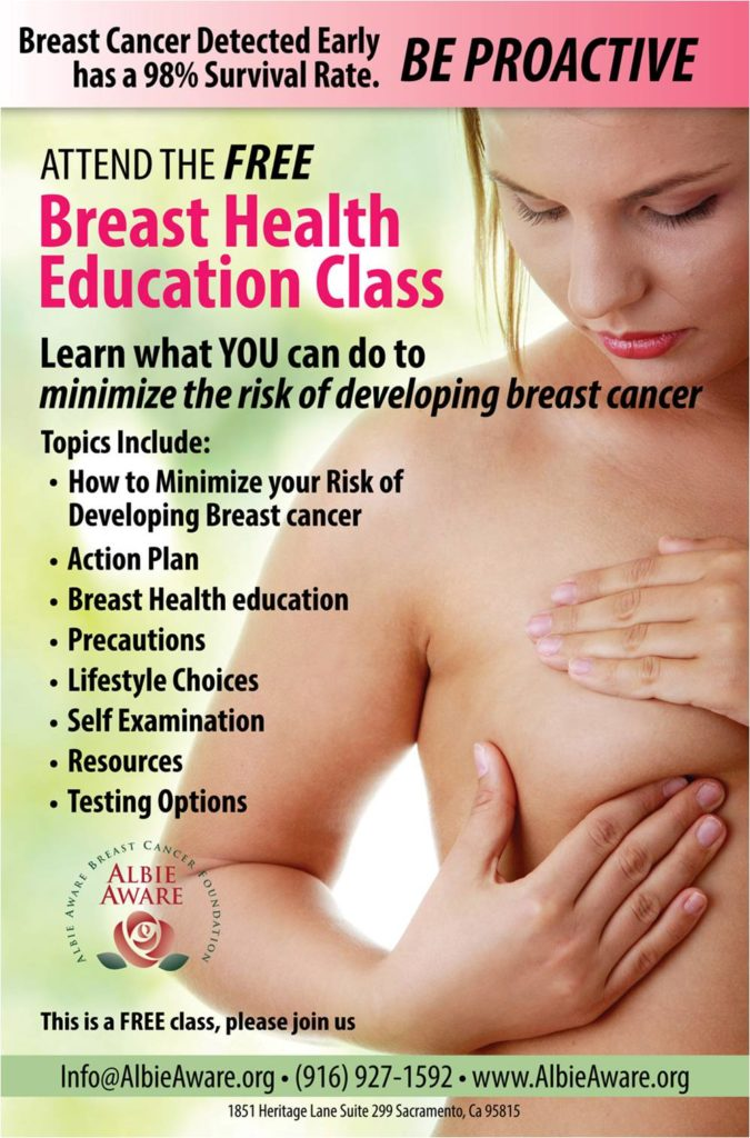 breast health class poster