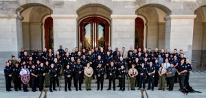 Sacramento Sheriffs and Elk Grove Police Department in front of the Capitol