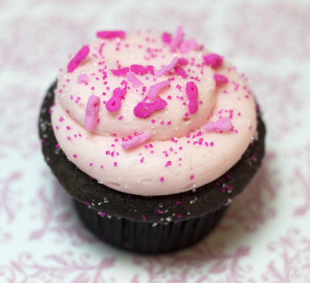 Chicago Fire Pinkdelicious cupcake
