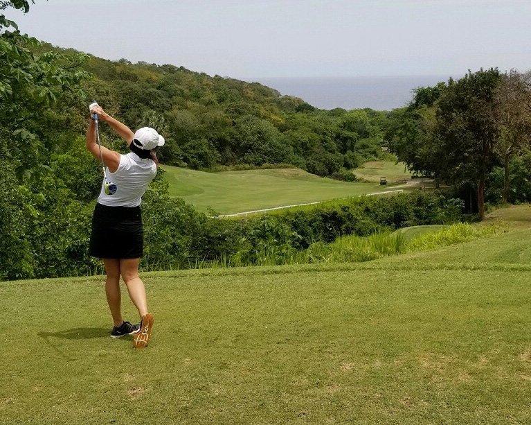 Jenny Weaver Golfing